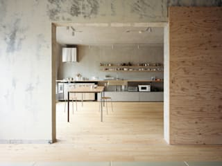 SETAGAYA FLAT 苅部 寛子建築設計事務所 /OFFICE OF KARIBE HIROKO Sala da pranzo in stile rustico