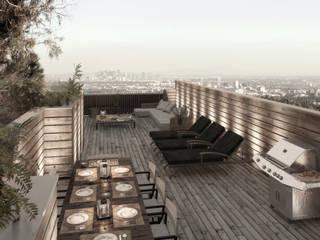 NATURAL LIGHT DESIGN STUDIO Balcone, Veranda & Terrazza in stile eclettico