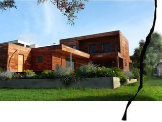 maison Ga: Maisons de style  par catherine vinciguerra