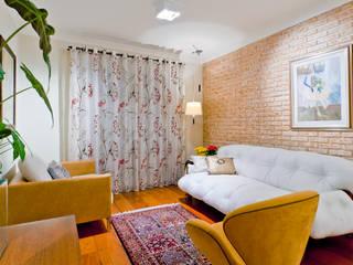 Apartamento em Santana Salas de estar rústicas por Enzo Sobocinski Arquitetura & Interiores Rústico