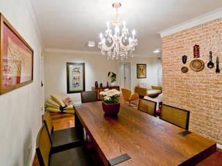 Apartamento em Santana Salas de jantar rústicas por Enzo Sobocinski Arquitetura & Interiores Rústico