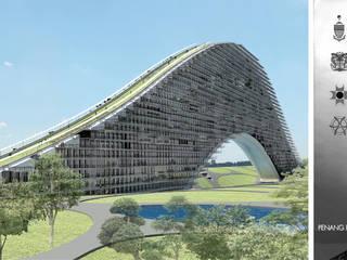 Residencial vertical Rifle Range, Penang, Malasia: Casas de estilo moderno por LEAP Laboratorio en Arquitectura Progresiva