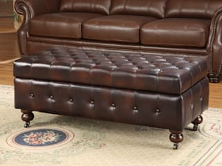 Gorgeous Leather Chesterfield Ottoman Locus Habitat Living roomStorage