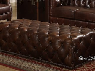 Gorgeous Leather Chesterfield Ottoman Locus Habitat Living roomSofas & armchairs