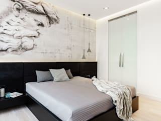 Minimalist bedroom by Anna Maria Sokołowska Architektura Wnętrz Minimalist