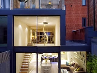 Rear external - showing kitchen / living / dining room:  Living room by LLI Design