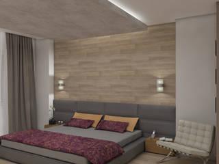 Minimalist bedroom by Aleksandra Kostyuchkova Minimalist