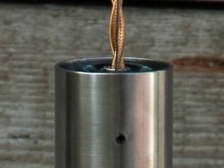 Lampion gładki ze szklanego syfonu od NaNowo Industrial Design Skandynawski