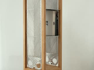 Etażerka w dębowej ramie od NaNowo Industrial Design Industrialny