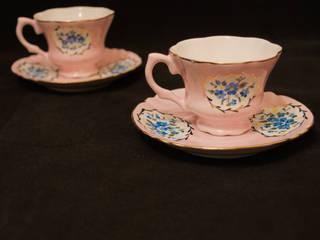 manushum cam atolyesi KücheBesteck, Geschirr und Gläser Porzellan Pink