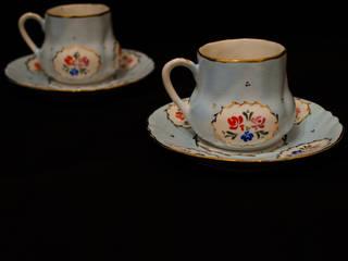 manushum cam atolyesi KücheBesteck, Geschirr und Gläser Porzellan Blau