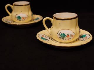 manushum cam atolyesi KücheBesteck, Geschirr und Gläser Porzellan Gelb