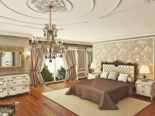 Klasik villa projesi Klasik Yatak Odası homify Klasik
