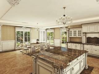 Klasik villa projesi Klasik Mutfak homify Klasik