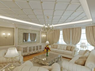 Klasik villa projesi Klasik Oturma Odası homify Klasik