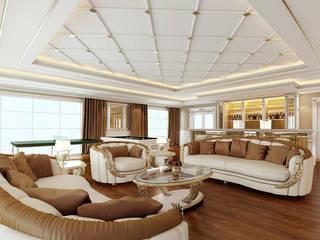 Nuevo Tasarım – Klasik villa projesi:  tarz Oturma Odası