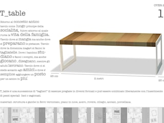 presentazione del tavolo:  in stile  di a2 studio di architettura
