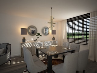 Eclectic style dining room by Disak Studio Eclectic