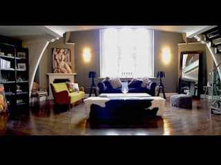 Apartment St Pancras Station London: eclectic Living room by wayne maxwell