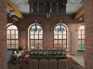 ЛОФТ в стиле JAZZ Коридор, прихожая и лестница в стиле лофт от Частный дизайнер Оксана Пискарева Лофт