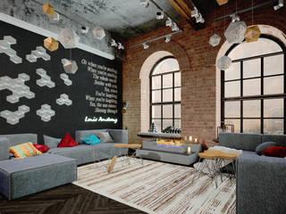 ЛОФТ в стиле JAZZ Гостиная в стиле лофт от Частный дизайнер Оксана Пискарева Лофт