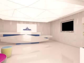 Asblkeu Oficinas Oficinas y tiendas de estilo minimalista de Alicia Toledo Minimalista