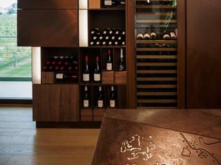Wine Tasting Room Espaços de restauração modernos por Alessandro Isola Ltd Moderno