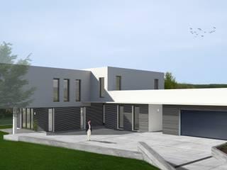 exklusives EFH mit separatem Bürotrakt: moderne Häuser von Bachschuster Architektur GmbH