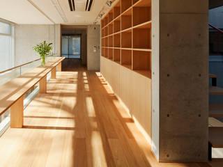 T-house モダンデザインの 書斎 の 秋山建築研究所 モダン