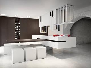The Cut Kitchen Alessandro Isola Ltd CucinaPiani di lavoro