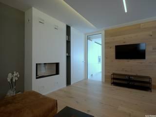 HOUSE A+I Soggiorno minimalista di luca troiani architetto Minimalista