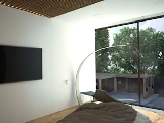 Grynevich Architects Minimalist bedroom