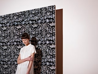 Aves Embroidered Wallpaper:   by CUSTHOM