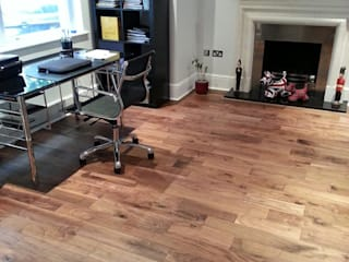 Walnut Flooring Modern study/office by The Prestige Flooring Company Modern