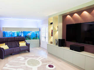 Contemporary Refurbishment in Surrey Modern living room by Jane Fitch Interiors Modern