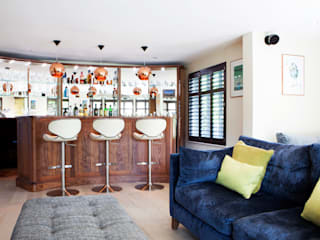 Contemporary Refurbishment in Surrey Modern media room by Jane Fitch Interiors Modern
