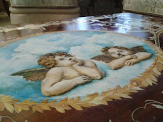 роспись и реставрация столика: Гостиная в . Автор – Абрикос