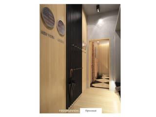 Industrialer Flur, Diele & Treppenhaus von FEDOROVICH Interior Industrial