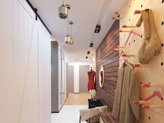 隨意取材風玄關、階梯與走廊 根據 Katerina Butenko 隨意取材風