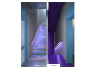 Pasillos, vestíbulos y escaleras de estilo minimalista de FEDOROVICH Interior Minimalista