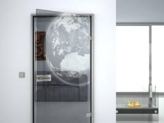 Glastüren mit gelaserten Motiven von Lionidas Design GmbH Ausgefallen