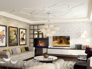 Çağrı Aytaş İç Mimarlık İnşaat – YILDIZ PLAZA PREMIUM:  tarz Oturma Odası