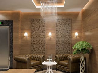 Couloir et hall d'entrée de style  par Çağrı Aytaş İç Mimarlık İnşaat,