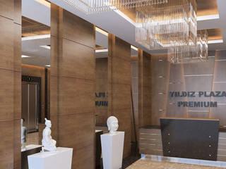YILDIZ PLAZA PREMIUM Klasik Koridor, Hol & Merdivenler Çağrı Aytaş İç Mimarlık İnşaat Klasik