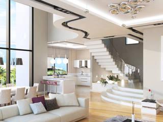HANEDAN KONUTLARI Modern Koridor, Hol & Merdivenler Çağrı Aytaş İç Mimarlık İnşaat Modern