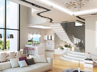 モダンスタイルの 玄関&廊下&階段 の Çağrı Aytaş İç Mimarlık İnşaat モダン