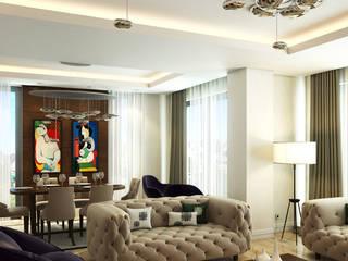 Çağrı Aytaş İç Mimarlık İnşaat – DE LIFE HOMES:  tarz Oturma Odası