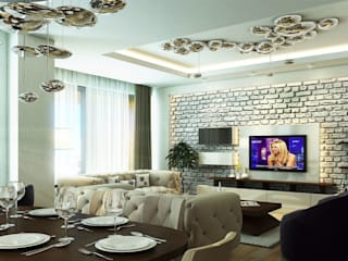 DE LIFE HOMES Modern Oturma Odası Çağrı Aytaş İç Mimarlık İnşaat Modern