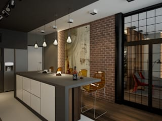 Industrial style kitchen by Room Краснодар Industrial
