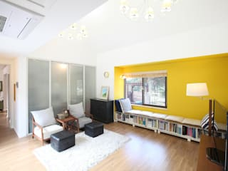 Salas de estar modernas por 주택설계전문 디자인그룹 홈스타일토토 Moderno